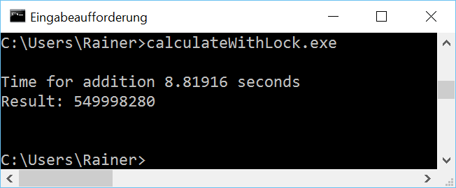 CalculateWithLock win