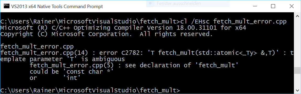 fetch mult error