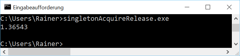 singletonAcquireRelease win